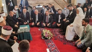 Cumhurbaşkanı Erdoğan İzzetbegoviç'in torununun nikahına katıldı