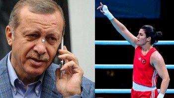 Cumhurbaşkanı Recep Tayyip Erdoğan, Busenaz Sürmeneli'yi telefonla arayarak tebrik etti