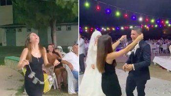 Düğünde altın yerine sigara taktılar