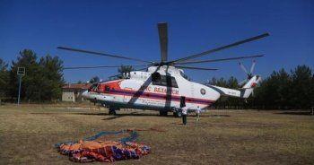Dünya'nın en büyük yangın söndürme helikopteri Muğla'da gece gündüz nöbet tutuyor