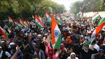 Hindistan'da Müslüman karşıtı sloganlar atıldı! 5 kişi gözaltında