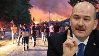 İçişleri Bakanı Soylu'dan yangın provokasyonlarına karşı uyarı
