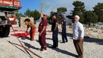 İDDEF ekipleri yangın bölgesinde