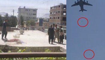 Kabil'den dehşet görüntüler: İnsanlar uçaklardan yere çakıldı - Video