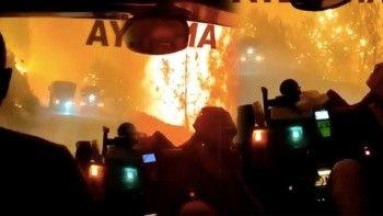 Manavgat'ta ölüm kalım savaşı: Söndürme ekiplerinin o anları anbean kaydedildi
