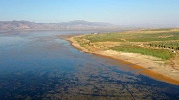 Marmara Gölü'nden  yürek burkan görüntü: Kuruma noktasına geldi