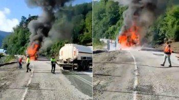 Selin vurduğu Kastamonu'ya yardım götüren tırda yangın