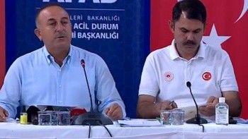 Yangın bölgelerinde son durum! Bakan Çavuşoğlu: Antalya'daki yangınlar İbradı ilçesi hariç söndürüldü