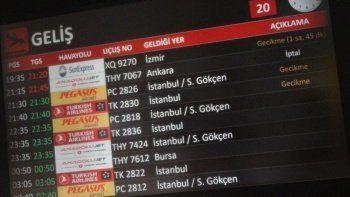 Trabzon Havalimanı'nda uçuşlar iptal edildi: Pist çatladı!