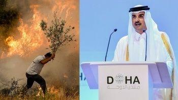 Yangınlara müdahale için Katar'dan destek