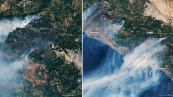 Türkiye'deki yangınlarda son durumu NASA açıklamasıyla paylaştı