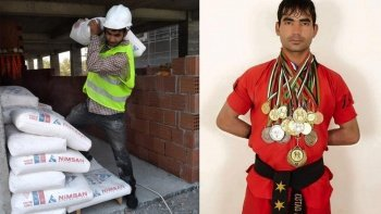 Ülkesinde şampiyondu: Taliban'dan kaçtı, Türkiye'de inşaat işçisi oldu