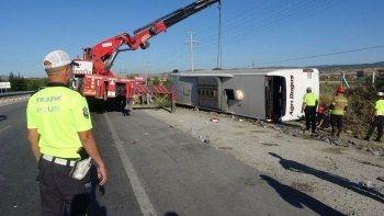 Uşak'ta devrilen otobüsle ilgili korkunç iddia: 'Şoför uyuyordu'