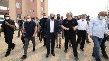 Yangından zarar görenlere devlet desteği