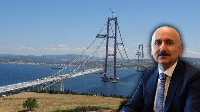 Çanakkale Köprüsü'nde tarihi an: Bakan Karaismailoğlu yürüyerek geçecek