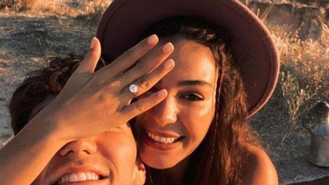 Cedi Osman'ın evlilik teklifi ettiği Ebru Şahin'in tektaşının fiyatı dudak uçuklattı