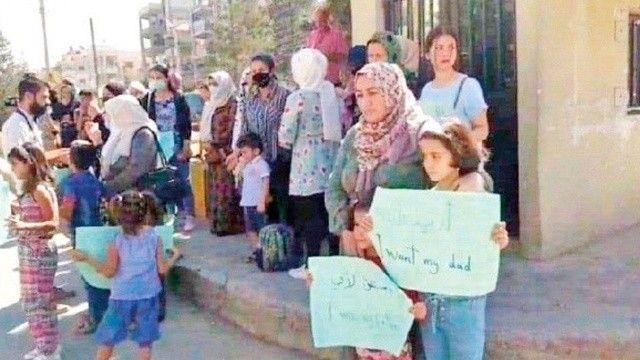 Evlat nöbeti Suriye'ye taştı! Anneler çocuklarımız nerede diye haykırdı