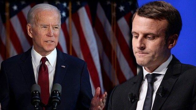 Joe Biden ve Emmanuel Macron denizaltı krizini görüşecekler