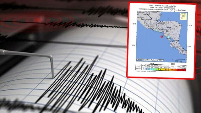 Nikaragua'da 6.5 şiddetinde deprem!