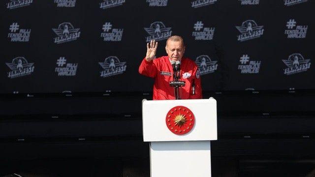 Son dakika! Cumhurbaşkanı Erdoğan TEKNOFEST'te müjdeyi verdi:  İlk durak Azerbaycan