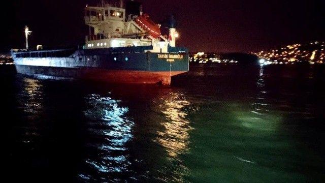 Son dakika: Yeniköy'de Türk ve Rus bandralı iki kuru yük gemisi çarpıştı