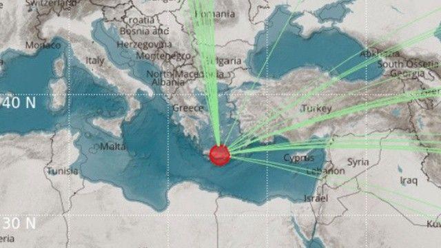 Son dakika! Yunanistan'da 6,5 büyüklüğünde deprem
