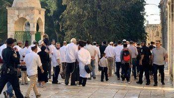 307 fanatik Yahudi'den Mescid-i Aksa'yı bastı ayin yaptı