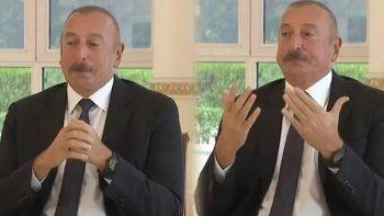 Aliyev, Karabağ zaferini anlatırken gözyaşlarını tutamadı