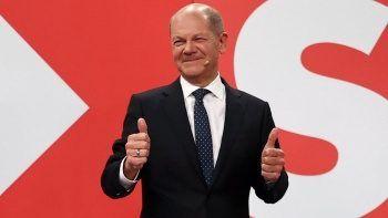 Almanya SPD lideri Olaf Scholz'un zafer konuşması