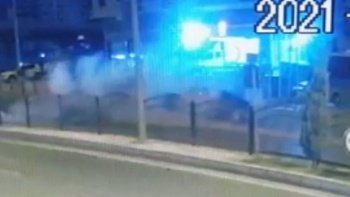 Astsubayın hayatını kaybettiği kaza kameraya yansıdı