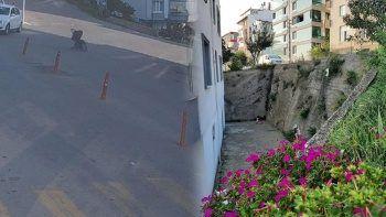 Bebek arabası yokuş aşağı kaydı: 10 aylık bebek 3 metreden betona düştü