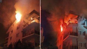 Binayı ateşe verdi: Bina sakinleri canlarını zor kurtardı