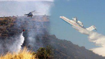 Bodrum'daki yangına jet müdahale: 5 saatte kontrol altında