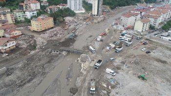 Bozkurt'taki sele ilişkin yeni görüntüler: Felaket böyle gelmiş