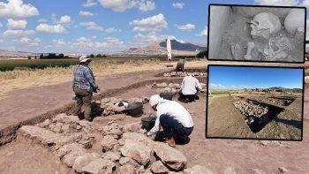 Çayönü Höyüğü'nde 5 bin yıllık sandık tipi mezar bulundu