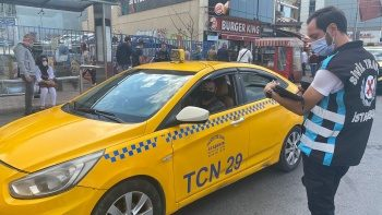Denetimlerde ceza kesilen taksi şoförü isyan etti