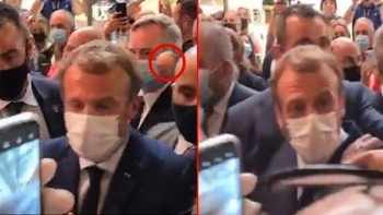 Emmanuel Macron'a bu kez de yumurtalı saldırı