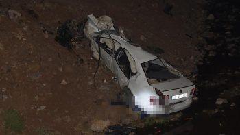 Feci kaza! Araç köprüden aşağı uçtu: Cansız bedeni 50 metre uzağa fırladı