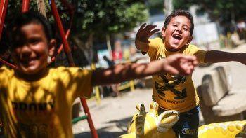 Gazzeli çocukların iç ısıtan mutluluğu!