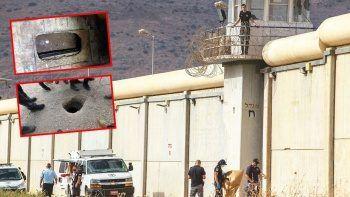 Hapishaneden kaşıkla kaçan iki Filistinli yakalandı
