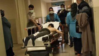 İşçi dehşeti yaşadı: Üzerine sülfürik asit döküldü