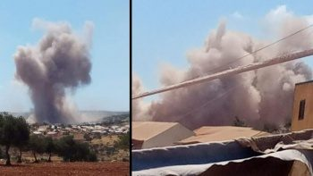 Rus savaş uçakları İdlib'de mülteci kampını vurdu: 5 yaralı