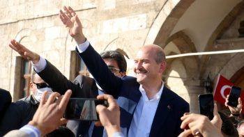 Sivas'ta Bakan Soylu'ya coşkulu karşılama