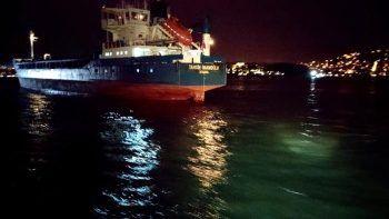 Yeniköy'de Türk ve Rus bandralı iki kuru yük gemisi çarpıştı
