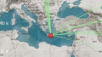 Yunanistan'da 6,5 büyüklüğünde deprem