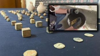 Zeytin bidonlarıyla kaçakçılık: 86 tarihi eser ele geçirildi