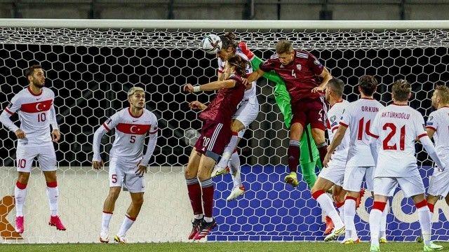 A Milli Takımımız Letonya'yı 2-1 mağlup etti