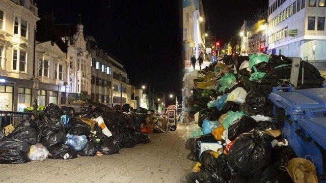 İşçiler grevde: İngiltere sokakları çöplere teslim