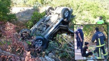 Araç hurdaya döndü, sürücünün burnu bile kanamadı