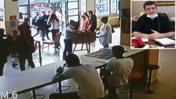 Beşiktaş Kaymakamı Önder Bakan bayılan öğrenciyi kucağında taşıdı
